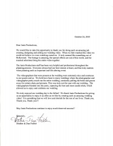 testimonial letter for video production